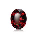 3.50-4.00 Cts of 10x8 mm AA Oval Cut Sabrina Created Ruby ( 1 pc ) Loose Gemstone