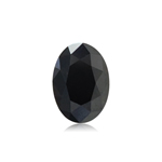 0.97 Cts of 6.97x4.93x4.13 mm EGL USA certified Oval Brilliant Cut ( 1 pc ) Loose Treated Fancy Black Diamond