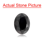 3.78 Cts AAA Oval Brilliant Cut EGL USA Certified Fancy Black ( 2 pcs ) Loose Diamonds
