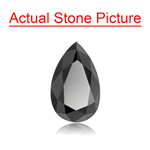 1.94 Cts AAA Pear Brilliant Cut EGL USA Certified Fancy Black ( 2 pcs ) Loose Diamonds