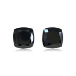 2.35 Cts AAA Cushion Brilliant Cut EGL USA Certified Fancy Black ( 2 pcs ) Loose Diamonds
