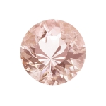0.40-0.50 Cts of 5 mm AAA Round Diamond Cut Morganite ( 1 pc ) Loose Gemstone
