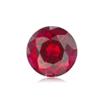 1.50-1.65 Cts of 7 mm AAA Round Cut Synthetic Corundum Ruby ( 1 pc  ) Loose Gemstone