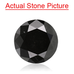 0.99 Cts of 6.27-6.35x3.68 mm GIA Certified Round Brilliant Cut ( 1 pc ) Fancy Loose Natural Black Diamond