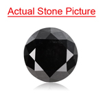 1.01 Cts of 6.06-6.22x4.10 mm GIA Certified Round Brilliant Cut ( 1 pc ) Fancy Loose Natural Black Diamond