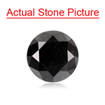 1.31 Cts of 6.54-6.58x4.58 mm GIA Certified Round Modified Brilliant Cut ( 1 pc ) Fancy Loose Natural Black Diamond