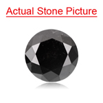 1.70 Cts of 7.23-7.30x4.83 mm GIA Certified Round Brilliant Cut ( 1 pc ) Fancy Loose Natural Black Diamond
