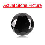 2.51 Cts of 8.52-8.56x5.25 mm GIA Certified Round Brilliant Cut ( 1 pc ) Fancy Loose Natural Black Diamond