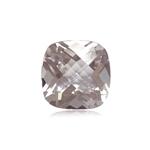 3.86 Cts of 10.0x10.0 mm A Cushion-Checker Cut Morganite ( 1 pc ) Loose Gemstone