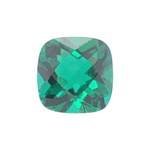 2.21-2.71 Cts of 8.0x8.0 mm AAA Cushion Checker Board Cut Lab Created Emerald ( 1 pc ) Loose Gemstone