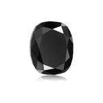3.45 Cts of 9.54x8.56x5.46 mm AAA Cushion Cut ( 1 pc ) Fancy Loose Black Diamond