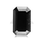 3.74 Cts of 11.09x7.15x4.01 mm GIA Certified AA Emerald Cut ( 1 pc ) Fancy Loose Black Diamond
