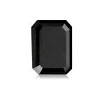 4.37 Cts of 11.01x7.13x4.71 mm AA Emerald Cut ( 1 pc ) Fancy Loose Black Diamond