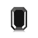 3.98 Cts of 10.96x7.2x4.24 mm GIA Certified AAA Emerald Cut ( 1 pc ) Fancy Loose Black Diamond