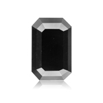 4.41 Cts of 10.99x7.2x4.62 mm GIA Certified AAA Emerald Cut ( 1 pc ) Fancy Loose Black Diamond