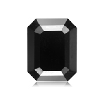 4.41 Cts of 11.16x7.18x4.66 mm AAA Emerald Cut ( 1 pc ) Fancy Loose Black Diamond