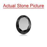 3.38 Cts of 10.00x7.97x5.85 mm AAA Oval Cut ( 1 pc ) Fancy Loose Black Diamond