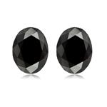 6.18 TW AAA Oval Cut ( 2 pc ) Fancy Loose Black Diamonds