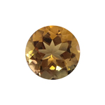 3.29-4.02 Cts of 10.0x10.0 mm AAA Round Cut Citrine ( 1 pc ) Loose Gemstone