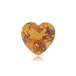 0.59-0.72 Cts of 6.0x6.0 mm AAA Heart Shape Cut Citrine ( 1 pc ) Loose Gemstone
