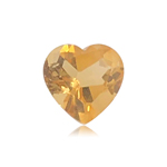 1.50-1.83 Cts of 8.0x8.0 mm AAA Heart Shape Cut Citrine ( 1 pc ) Loose Gemstone