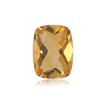 8.24-10.07 Cts of 16.0x12.0 mm AAA Cushion Checker Cut Citrine ( 1 pc ) Loose Gemstone