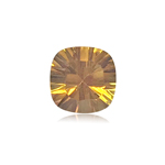 1.31-1.60 Cts of 7.0x7.0 mm AAA Cushion Concave Cut Citrine ( 1 pc ) Loose Gemstone