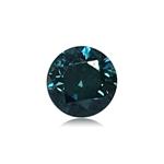 0.25 Cts of 3.7x3.7x2.6 mm SI1 Brilliant Rount Cut Teal Blue Diamond ( 1 pc ) Loose Color Diamond