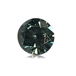 0.3 Cts of 4.3x4.3x2.5 mm SI1 Brilliant Rount Cut Teal Blue Diamond ( 1 pc ) Loose Color Diamond