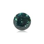 0.3 Cts of 4x4x2.7 mm SI1 Brilliant Rount Cut Teal Blue Diamond ( 1 pc ) Loose Color Diamond