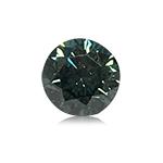 0.32 Cts of 4.1x4.1x2.9 mm SI1 Brilliant Rount Cut Teal Blue Diamond ( 1 pc ) Loose Color Diamond