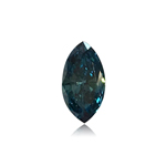 0.18 Cts of 3.1x5.7x1.8 mm SI1 Marquise Cut Teal Blue Diamond ( 1 pc ) Loose Color Diamond