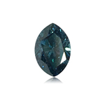 0.34 Cts of 3.6x5.4x2.7 mm SI1 Marquise Cut Teal Blue Diamond ( 1 pc ) Loose Color Diamond
