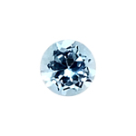 0.61-0.74 Cts of 5.0x5.0 mm AAA Round Cut Sky Blue Topaz ( 1 pc ) Loose Gemstone