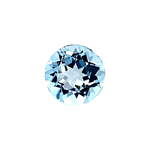 2.06-2.52 Cts of 8.0x8.0 mm AAA Round Cut Sky Blue Topaz ( 1 pc ) Loose Gemstone