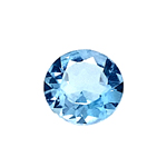 2.70-3.30 Cts of 9.0x9.0 mm AAA Round Cut Sky Blue Topaz ( 1 pc ) Loose Gemstone