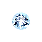 1.56-1.90 Cts of 7.5x7.5 mm AAA Round Cut Sky Blue Topaz ( 1 pc ) Loose Gemstone