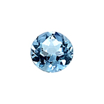 1.39-1.70 Cts of 7.0x7.0 mm AAA Round Cut Sky Blue Topaz ( 1 pc ) Loose Gemstone