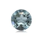1.48-1.81 Cts of 7.0x7.0 mm AA Round Texas Star Cut Sky Blue Topaz ( 1 pc ) Loose Gemstone
