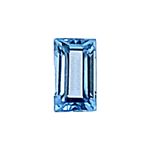 0.21-0.25 Cts of 6.0x3.0 mm AAA Baguette Cut Sky Blue Topaz ( 1 pc ) Loose Gemstone