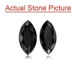 3.22 Cts of 9.0x4.0 mm AAA Marquise Cut ( 4 pcs ) Fancy Loose Black Diamonds