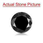 1.52 Cts of 6.97-7.01x4.63 mm Round Cut ( 1 pc ) Fancy Loose Black Diamond