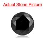 1.45 Cts of 7.12-7.17x4.27 mm Round Cut ( 1 pc ) Fancy Loose Black Diamond