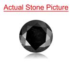 0.79 Cts of 5.80x3.68 mm Round Cut ( 1 pc ) Fancy Loose Black Diamond