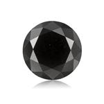 1.18 Cts of 6.47-6.45x4.22 mm Round Cut ( 1 pc ) Fancy Loose Black Diamond