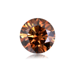 1.02 Cts of 6.46x4.01 mm Round Cut ( 1 pc ) Fancy Loose Brown Diamond