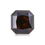 1.41 Cts of 5.98x5.83x4.25 mm Cut-Cornered Square Modified Brilliant ( 1 pc ) Fancy Loose Dark Orangy Brown Diamond