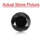 1.77 Cts of 7.18-7.22x5.15 mm Round Cut ( 1 pc ) Fancy Loose Black Diamond