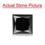 1.47 Cts of 6.34x6.2x3.69 mm Princess Cut ( 1 pc ) Fancy Loose Black Diamond