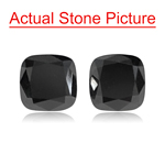 2.77 Cts AAA Cushion Cut ( 2 pcs ) Loose Treated Fancy Black Diamonds